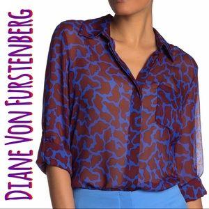 Lorelei silk blouse 3/4 sleeve